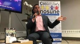 Eder Holguín lanza su libro Camino a la esperanza en el Consulado de Colombia en Nueva York