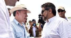 Presidente Santos visita territorio de las Farc