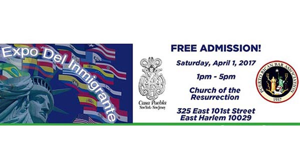 Exposición del  Inmigrante el sábado 1 de abril para informarse y protegerse