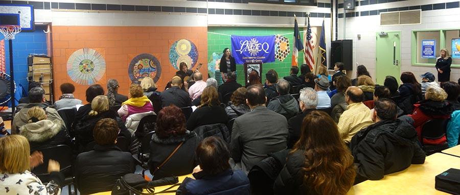 La celebración del aporte de la mujer a esta sociedad se realizó en el auditorio de la escuela pública 222 de Queens.