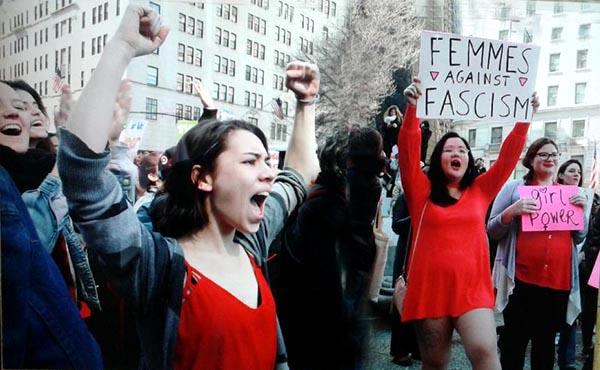 Mujeres arrestadas en Manhattan en el Día Internacional de la Mujer