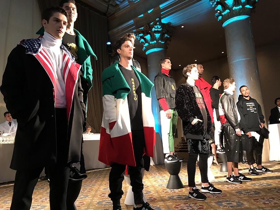 Los modelos con los diseños deportivos de Richardo Seco.
