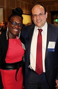 Deputy Borough President Melva Miller with Executive Director Ben Thomases.
