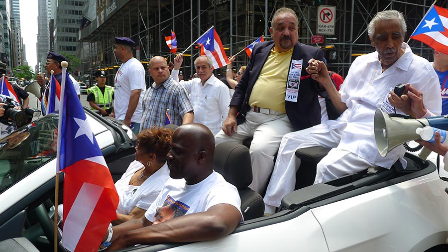 Politics has always been a big part of the Puerto Rican Parade in New York. Photo Javier Castaño