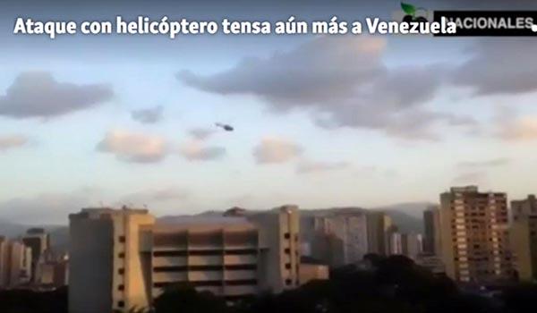 Ataque 'terrorista' en Caracas de militares con helicoptero robado