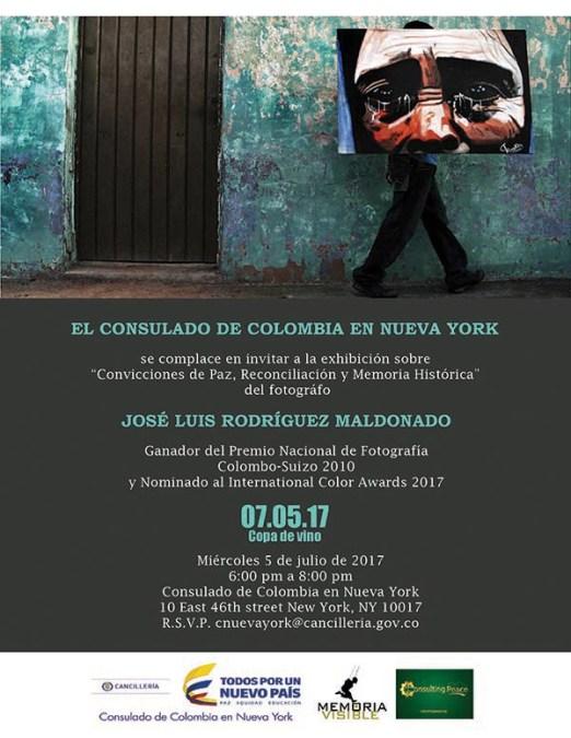 Consulado de Colombia en NY: Sábado Consular y charla sobre fotografía y el Proceso de Paz este fin de semana
