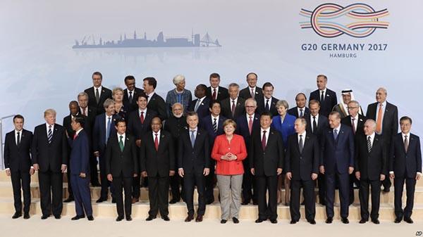 Líderes del G20 debaten comercio y cambio climático