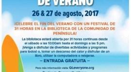 Biblioteca de Península con 31 horas gratis de festival de verano el 26 y 27 de agosto
