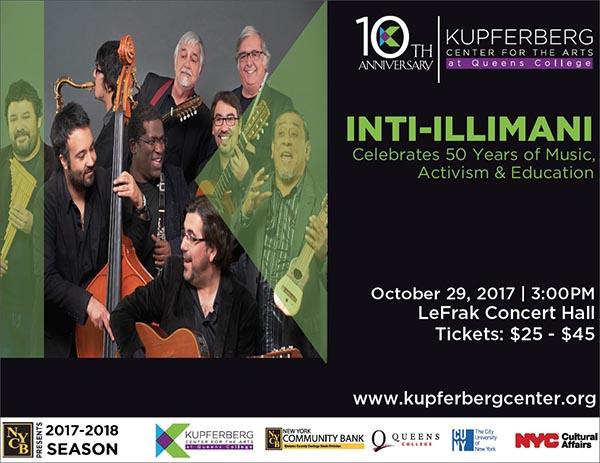 Inti-Illimani en Queens College el domingo 29 de octubre