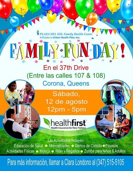 Plaza del Sol y Healthfirst invitan a un día de diversión familiar y salud este sábado 12 de agosto en Corona