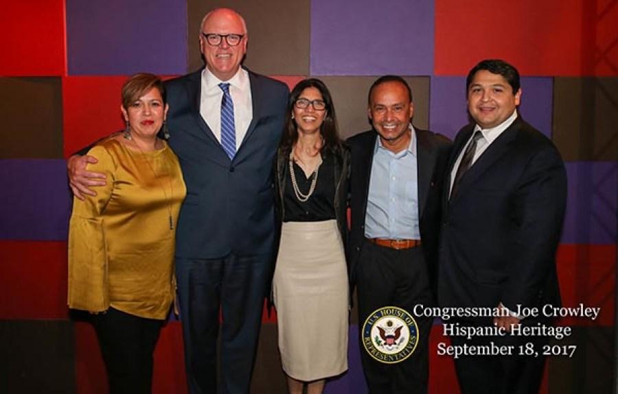 Desde la izquierda, Lorena Kourousias, Joseph Crowley, Norma Potros, Luis Gutiérrez e Israel Rocha. Foto Dominick Tontino