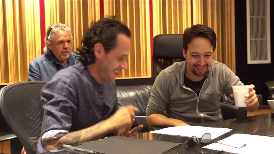 Desde la izquierda, Luis Miranda, Marc Anthony y Lin-Manuel Miranda. Imagen tomada del video de la canción
