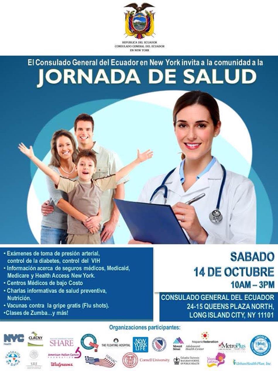 Ecuador consulado Queens salud