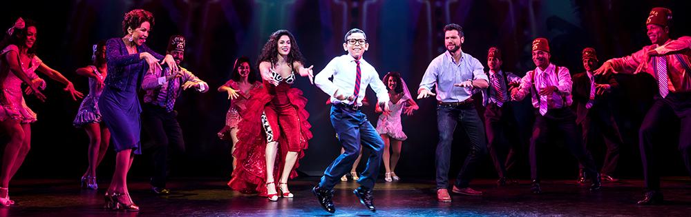 Jordan Vergara en la obra de Broadway On Your Feet.