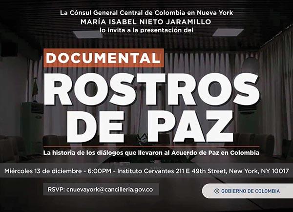 Este miércoles 13 la historia de los diálogos de paz en Instituto Cervantes de Manhattan