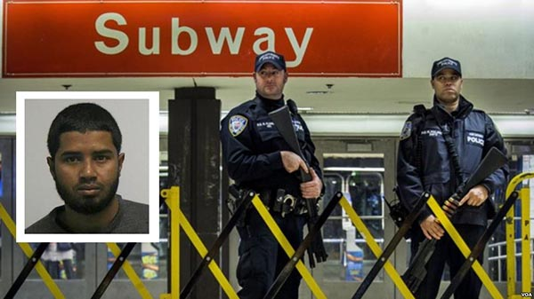 Sospechoso acusado de terrorismo en Nueva York