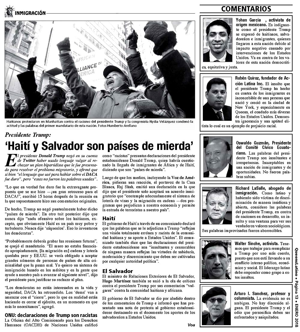 QUEENSLATINO EDITION #89 JAN. 2018 PAGE 13
