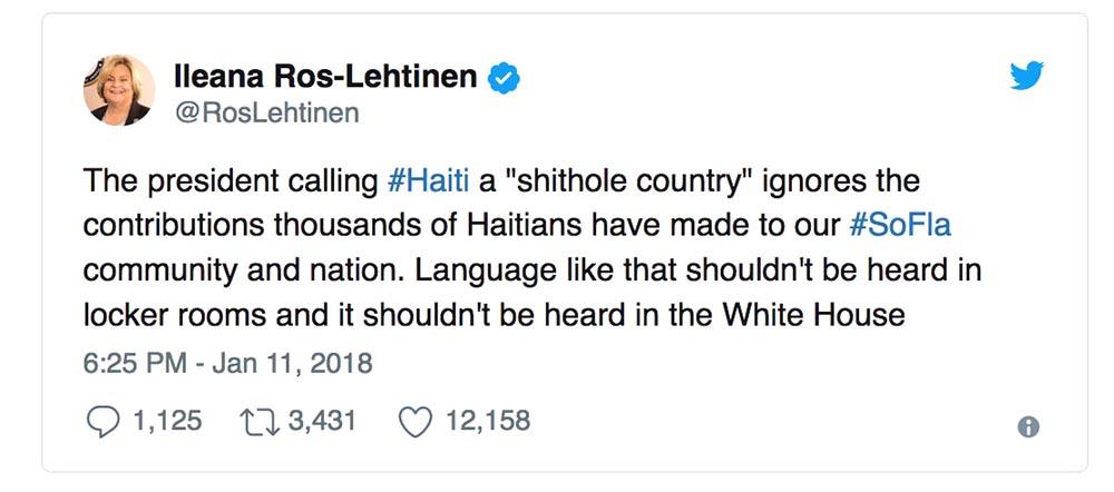 Trump mierda Ileana Ros-Lehtinen