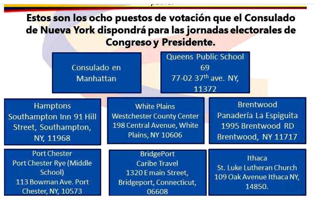 Puestos de votacion colombiano NY