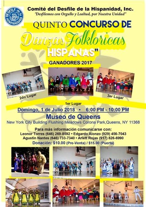 Desfile de la Hispanidad con concurso de danzas folklóricas