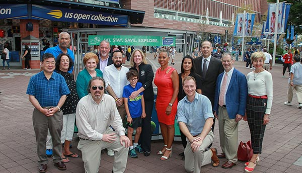 USTA Donated a Kiosk for Queens Tourism Council at US Open