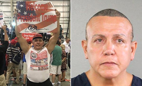 Sospechoso de enviar paquetes bomba apoya a Trump