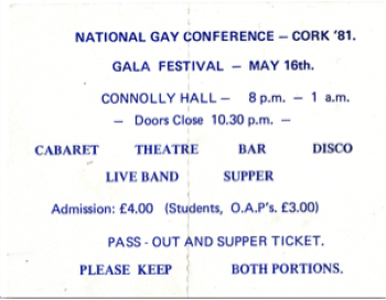 National Gay Conference, Cork, 1981 (Cork LGBT Archive)