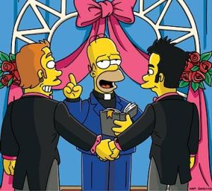 gay wedding cartoon