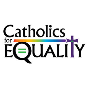 Catholics for equality rainbow graphic