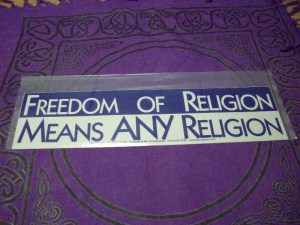 freedom of religion means for any religion