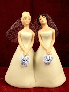 lesbian wedding cake figures