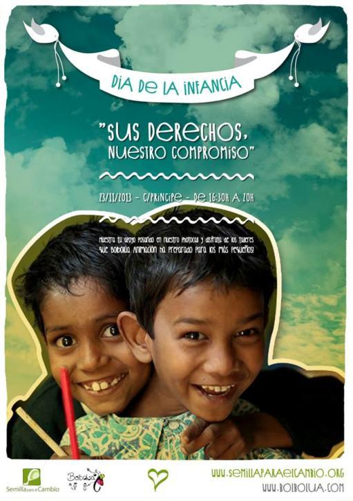 cartel semilla dia de la infancia