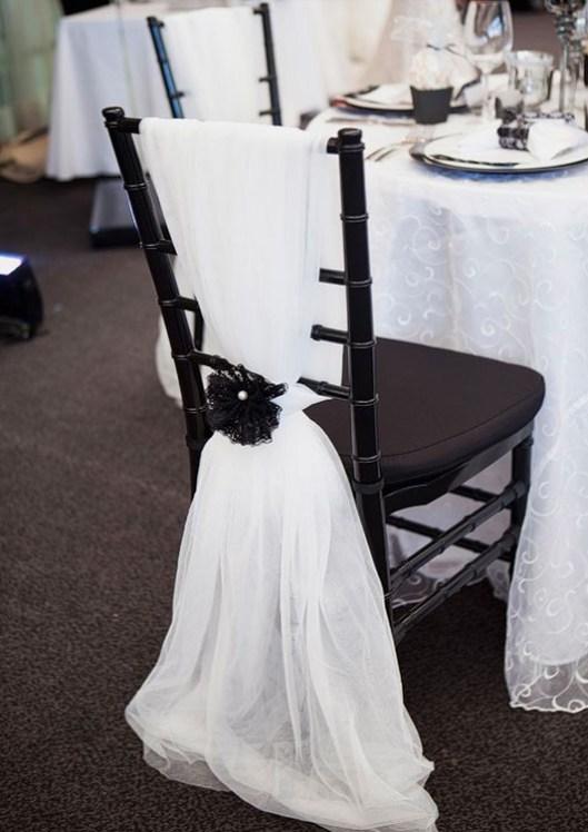 Silla decorada para boda