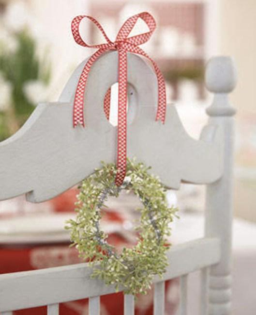 Decoración silla navidad