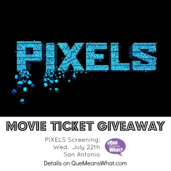 PIXELS Movie Ticket Giveaway - Que Means What