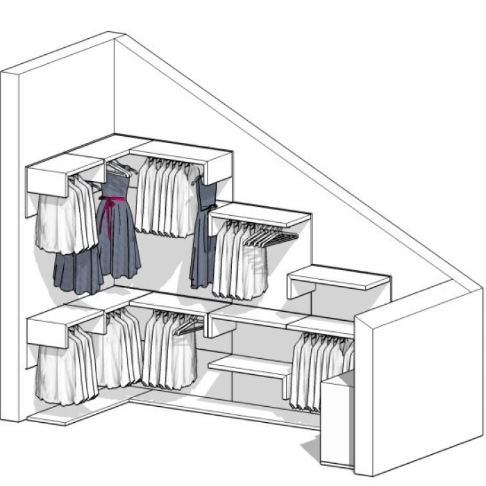 Come realizzare una cabina armadio questioni di arredamento - Progettare una cabina armadio ...