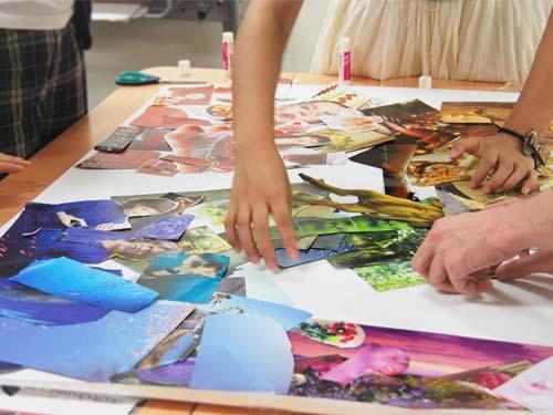 アートセラピー技法を用いた         『アートワークセラピー講座』大阪校風景4