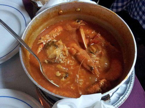 Arroz caldoso con mariscos, uno de los platos típicos de la gastronomía de Sintra