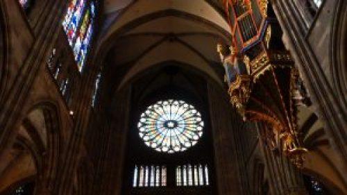 Vidrieras y órgano de la Catedral de Estrasburgo