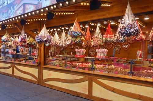 Puesto de dulces en el Mercado de Navidad de Füssen