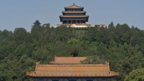 Pabellón Wanchun en el Parque Jingshan, parques de Pekín