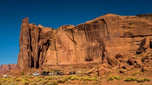 Zona para contratar rutas a caballo por Monument Valley