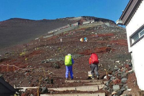 Sendero de ascensión al Monte Fuji