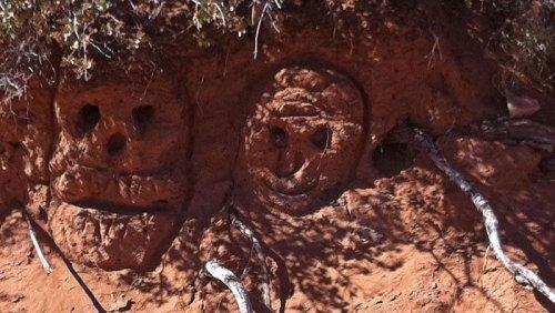 Restos del asentamiento de los Ansazi en el Canyon de Chelly