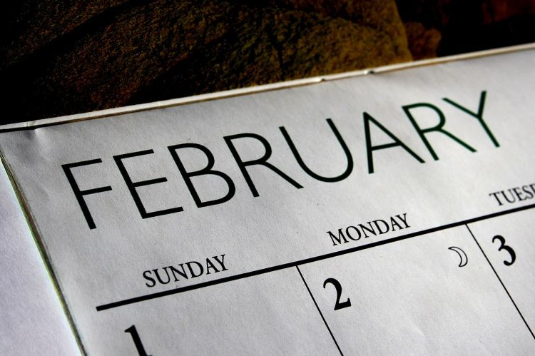 February Calendar 4 Days a Week is Every Day Daily Inspiration Motivation Momentum