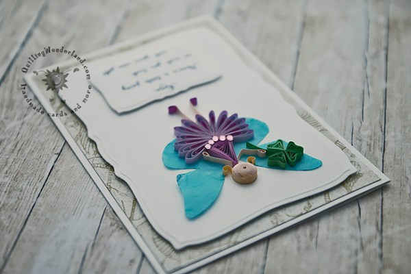 Quilled New Job Greeting Card