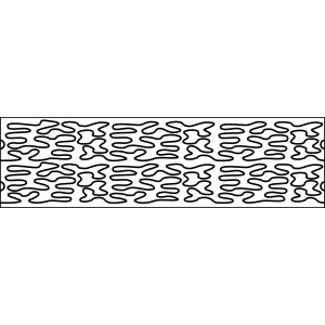 6 inch open meander quilting template