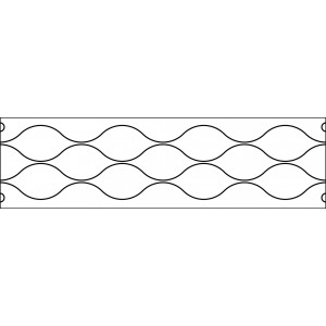6 inch ripples quilting template