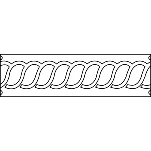 6 inch ropes quilting template