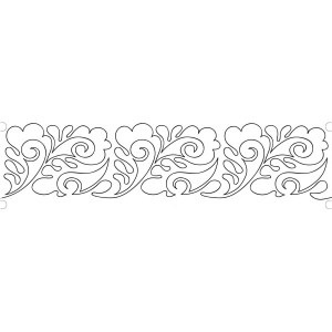 6-paisley-feathers quilting template
